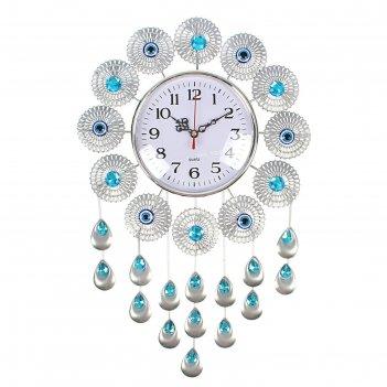Часы настенные, серия: ажур, малика, 30х47 см
