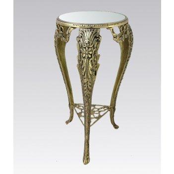 Столик металлический интерьерный с зеркальной столешницей (bp-22110-d)