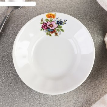 Блюдце «букет цветов», d=11 см