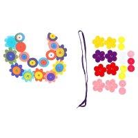 Набор для творчества - создай ожерелье из фетра цветочки