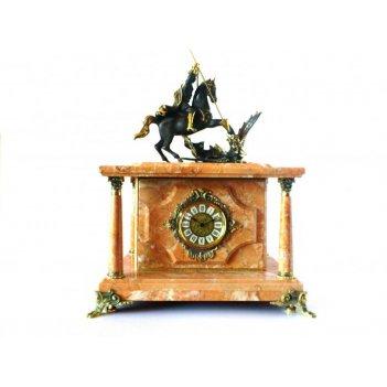 Часы-сейф георгий победоносец из яшмы (арт.с-006)