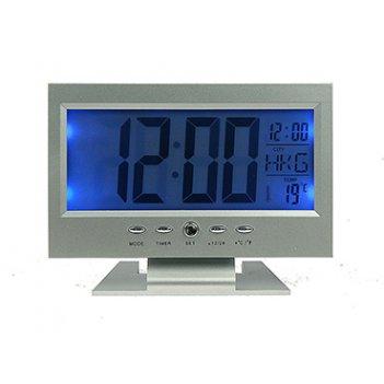 Электронная метеостанция 15*6*10см: часы, термометр, календарь, будильник