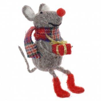 Фигурка декоративная мышка, l13 w7 h9 см