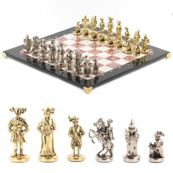 Шахматы средневековье доска 450х450 мм мрамор креноид металл