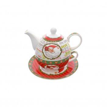 Набор christmas time 3 предмета (заварочный чайник + чашка + блюдце) royal