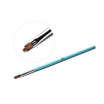 Кисть для дизайна ногтей tnl фигурная «лилия», голубая