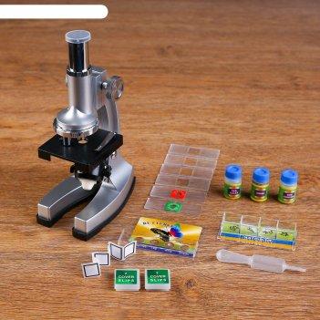 Микроскоп х250, две баночки, стекляшка, пинцет, подсветка, 2 аа бат не в к