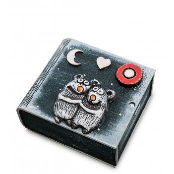 Kk-626 шкатулка мышонок шамот
