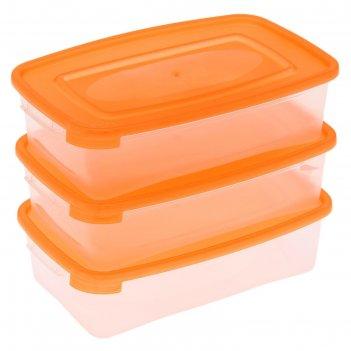 Набор пищевых контейнеров 700 мл каскад, 3 шт, цвет микс