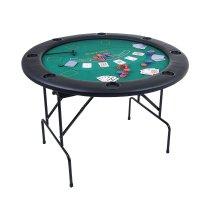 Стол для покера складной для 8 игроков+100 фишек по 4 гр+2 колоды карт 30