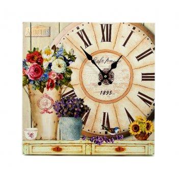 Часы летние цветы 40*40см