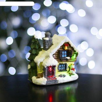 Фигурка светящаяся новогодний домик