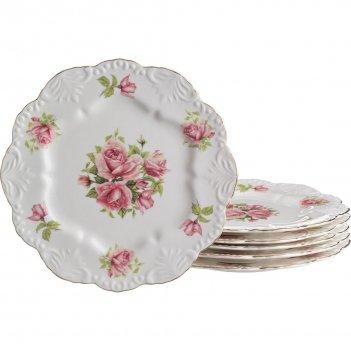 Набор тарелок из 6 шт. жаклин диаметр=24 см (кор...