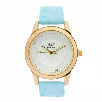 Часы наручные женские сит, циферблат d=3,6 см, голубые