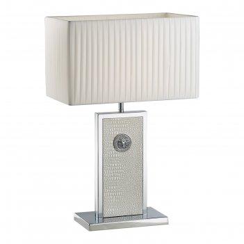 Настольная лампа faraone 1х60вт e27 белый, хром 38x25x60см