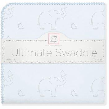 Фланелевая пеленка для новорожденного swaddledesigns слоники с птичками го