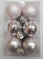 """Набор ёлочных игрушек """"шары"""" из 12шт. 30мм, серебро"""