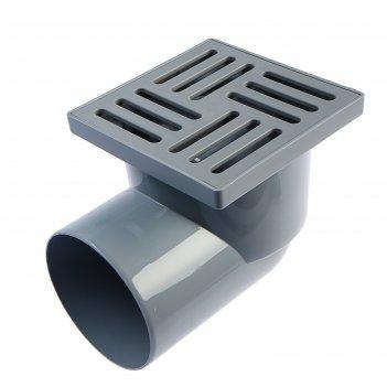 Трап ани ta1110, d=110 мм, горизонтальный, решетка пластиковая, 150х150 мм