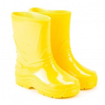 Сапоги детские пвх, цвет жёлтый, размер 27