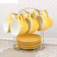Набор чайный акварель, 12 предметов: 6 кружек 240 мл, 6 блюдец, цвет желты