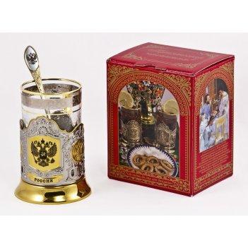 Набор для чая россия (3 пр.) арт. пд-115кс-герб