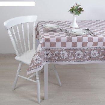 Клеенка столовая на ткани (рулон 20 метров), ширина 137 см шахматка
