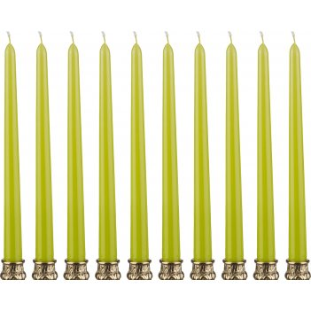 Набор свечей из 10 шт.высота=29 см.фисташковый