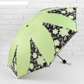 Зонт механический, r=55см, цвет светло-зелёный