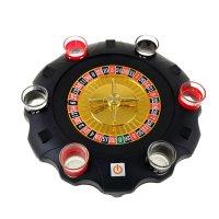 Игра пьяная рулетка вращается при нажатии кнопки от батареек + 6 стопок 5х