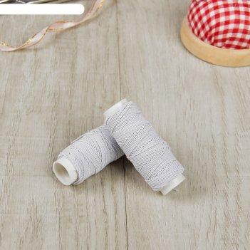 Резинка шляпная, 5 шт по 10 гр, цвет белый