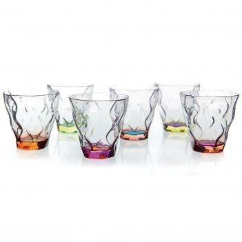Набор стаканов для виски цветные rcr riflessi bicolour 300 мл(6шт)