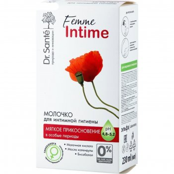 Молочко для интимной гигиены dr.sante femme intime «мягкое прикосновение»,
