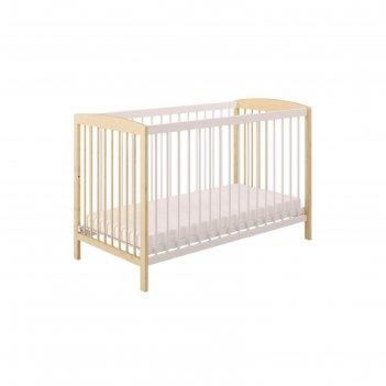 Кроватка детская polini kids simple 101, цвет натуральный-белый