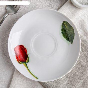 Блюдце 15 см королева цветов