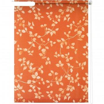 Рулонная штора «березка», 90х175 см, цвет терракот
