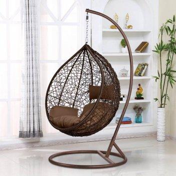 Подвесное кресло cocoon chair 168 l brown, садовая мебель