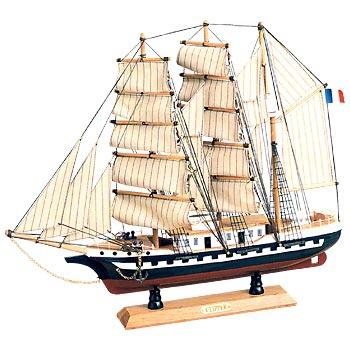 Модель парусного корабля клиппер белем, 52,5*44см