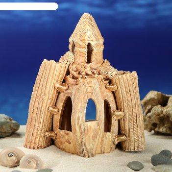 Аквадекор-грот для аквариума м84 замок малый цвет 2