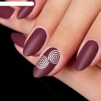 Трафарет для ногтей «спираль», 9 шт на подложке