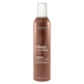 Мусс для укладки волос kapous magic keratin, нормальная фиксация, с керати