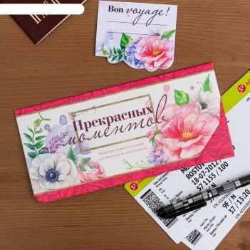 Туристический конверт для документов и наклейка на чемодан прекрасных моме