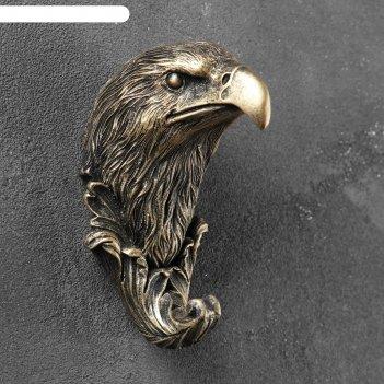 Крючок фигурный орел бронза 7х6х11см