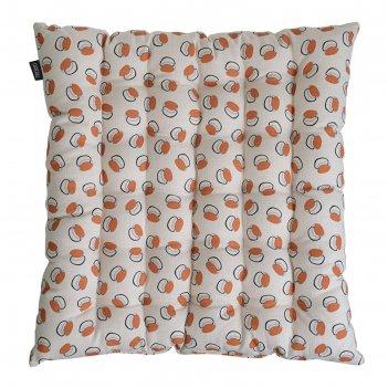 Подушка на стул стёганая russian north, размер 40х40 см, принт ягоды