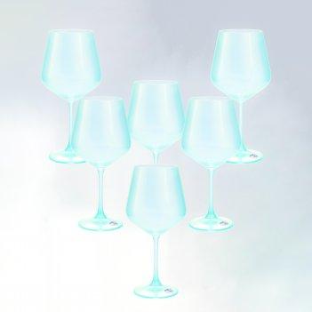 Набор бокалов для вина crystalex bohemia sandra 570 мл(6 шт)