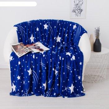 Плед 200х220см, рисунок «звездное небо», корал-флис 180г/м пэ100%