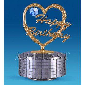Ar-3562/sb фигурка музыкальная сердечко happy birthday (юнион)