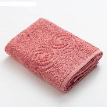Полотенце махровое love life border 50*90 пыльный розовый,100% хлопок,360