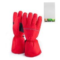 Перчатки, с подогревом redlaika rl-p-03, aa на батарейках, красные, xs