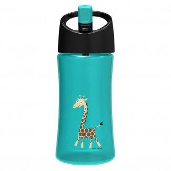 Детская бутылка для воды carl oscar giraffe 0.35л бирюзовая
