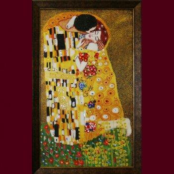 Картина сваровски - поцелуй климт